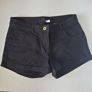 H&M Classic Black Mini Shorts